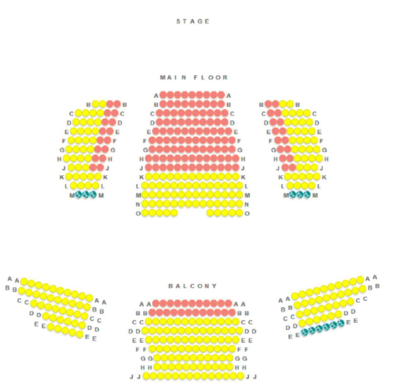 seating chart pricing policies sheldon theatre